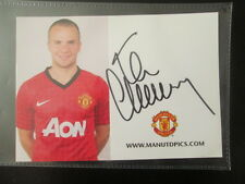Tom Cleverley 2012-2013 Manchester United Signed Football Photo Club Card  /bi