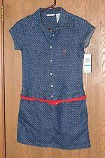 Macy's GUESS Kids Girls XL(16) Printed Denim Dress with Belt **NWT**