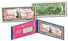 BREAST CANCER AWARENESS Official Legal Tender U.S. $2 Bill - STAND UP 2 CANCER