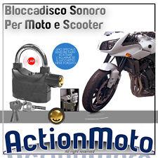 ANTIFURTO LUCCHETTO BLOCCADISCO MOTO SCOOTER ALLARME SONORO IMPERMEABILE 110dBa