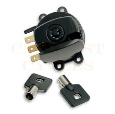 Black Ignition Switch with Round Key Harley Road King, Dyna, Softail Ignition