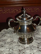 FINE HEAVY SILVERPLATE SUGARBOWL WITH LID. MADE IN MEXICO!