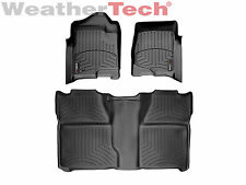 WeatherTech® FloorLiner - Chevy Silverado 2500/3500 HD Crew Cab -2008-2014-Black