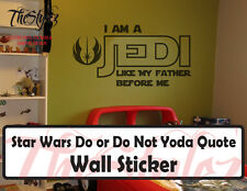 Star Wars Luke Skywalker I Am a Jedi Quote Vinyl Sticker