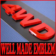 4WD Logo Tuning Emblem For Universal Vehicles - Red