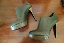 HOUSE OF HARLOW 1960 Green LEATHER BOOTS BOOTIE Boots SIZE 7.5