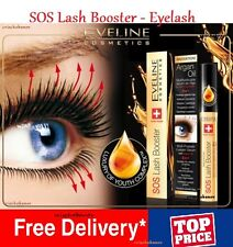 NEW EVELINE LASH SOS BOOSTER CONDITIONER EYELASHES GROWTH ARGAN OIL SERUM 5 IN 1
