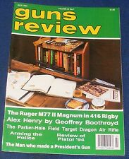 GUNS REVIEW MAGAZINE JULY 1994 - RUGER M77 II MAGNUM IN 416 RIGBY