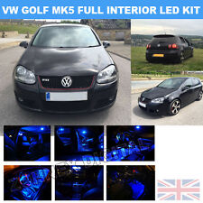 INTERIOR LED SMD Bulbs KIT -BLUE CAN BUS fit VW GOLF VI