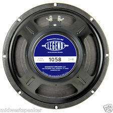 "Eminence LEGEND 1058 10"" Guitar Speaker 8 ohm 75 Watt - FREE US SHIPPING!"