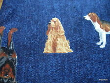 Cranston cotton quilt fabric Joan Messmore Dog Show print poodle half yard cut