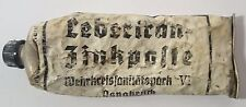 WW2 ORIGINAL German MEDICAL OINTMENT TUBE RELIC of 121. Inf. Div. from Kurland