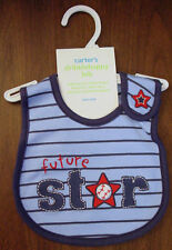 CARTERS BOYS SPORTS THEME BLUE BIB NWT