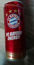1 Volle Energy Drink Dose 250ml FCB Bayern München Nr 1 Full Can DFB Fan Fußball