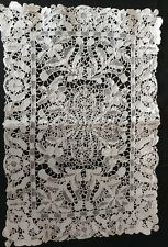 SALE** 6 ANTIQUE ITALIAN LACE PLACE MATS MIXED LACE ELABORATE HANDMADE (#98)