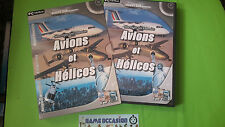 AVIONS ET HELICOS /HITS FLIGHT SIM EXTENSION PC CD-ROM / / EN BOITE 3 DISC