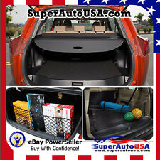 2013-2017 TOYOTA RAV4 REAR TRUNK BLACK OE STYLE RETRACTABLE CARGO COVER AND NET