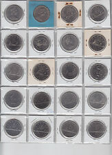 Set of 20 Canadian Nickel Dollars - 1968 Thru 1986