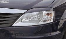 RDX Scheinwerferblenden DACIA Logan 2008-2013 Böser Blick ABS Blenden Spoiler
