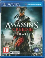 ASSASSIN'S CREED III: LIBERATION GAME PS Vita Sony (3 assassins) ~ NEW / SEALED