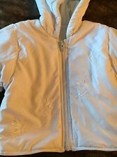 White Reversible Girls Age 2 Jacket Good Condition