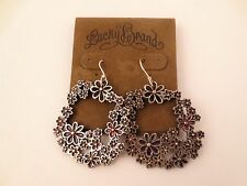 Lucky Brand Flower Wreath Earrings with Enamel Detail