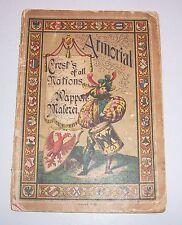 Armorial Crest 's of all Nations emblema-Malerei para 1900 para ensombrecer libro para colorear!
