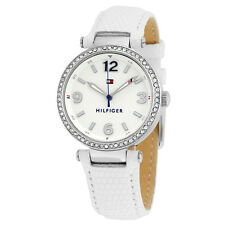 Tommy Hilfiger Lynn White Dial White Leather Ladies Watch 1781586