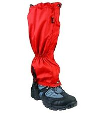 RIPSTOP WATERPROOF MOUNTAIN GAITERS red hiking fishing full length boot cover