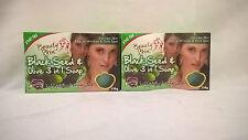 2 Seifen mit Schwarkümmel und Oliven - 2 x 130 g - Seife Körperpflege Haarpflege