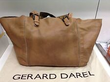 Sac Gerard Darel Cabas Simple bag  En Cuir Marron Camel Beige