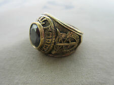 US Army Special Forces USMC Marines Navy NAM Insignia Ring NAM PX Sterling Gr 64