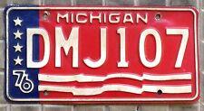TARGA USA auto MICHIGAN Bicentenario 1776-1976  ORIGINALE Stato dei Grandi Laghi
