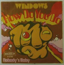 """7"""" Single - Windows - How Do You Do (English Version) - S942h - washed & cleaned"""