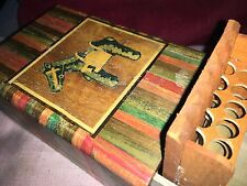 Vintage Cigarette Box And Holder Opens To Piano Rift,Striped & Donkey Decoration