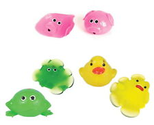 12 PACK SPLAT BALL PIG, DUCK, FROG SQUISHY SPLATS TOY STRESS RELIEVER GOODY BAG