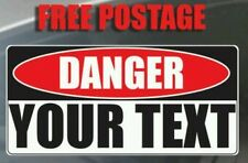 Warning Hazard Danger Caution Your Text Words Custom 460x1000 GIANT Vinyl Work