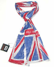 Union Jack Scarf for Women and Men - Ladies Blue Red and White scarves Scarfs