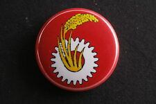 "Japan JCP Japanese Communist Party Pin Badge Button 1"" Gear Wheat Red Flag"