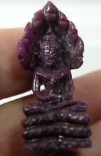 35.00ct 34mm Africa 100% Natural Ruby Zoisite Hand Carved Buddha  7g 1 5/16 in