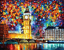 "Big Ben, London —  Oil Painting On Canvas By Leonid Afremov. Size: 40""x30"""