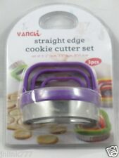 New 3-Pieces Straight Edge Cookie Cutter Set-Purple