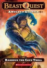 Beast Quest #21: Amulet of Avantia: Rashouk the Cave Troll-ExLibrary