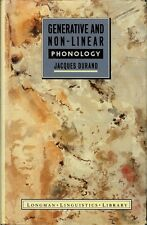 Generative and Non-linear Phonology by Jacques Durand [First Edition]