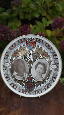 1977 Queen's Silver Jubilee Royal Visit to Tonga Large Plate with Portraits 27cm