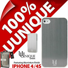 NUOVO Uunique Alluminio Custodia Rigida Cover Per Apple iPhone 4/4s Bianco Metallo