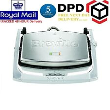New Breville VST071 DuraCeramic 3 Slice Sandwich Press Paninis Maker