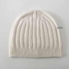 J. Crew Collection Ribbed Cashmere Hat NWT Color: Snow
