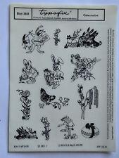 DDR Kult Typofix Haftdruckabreibfolie Saalfeld Rubbelbilder 3818 Ostermotive