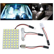 Car Interior White 12V 48 SMD 5050 LED Light Lamp Panel T10 Festoon Dome BA9S